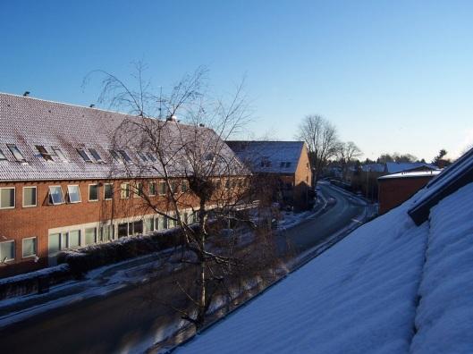 Sne og solskin - tirsdag morgen
